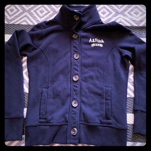 Abercrombie & Fitch button up sweatshirt.